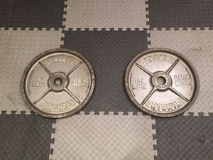 45 pound weight plates for Sale in Cary, NC