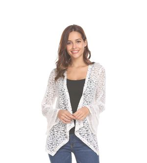 NEW Women's Lace Cardigan Sheer Cover-Up Jacket Shrug Women's Size Medium for Sale in Monroe, WA