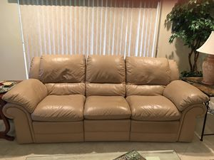 Leather Sofa with reclining end seats for Sale in Delray Beach, FL