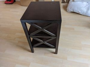 Dark wood nightstand - good condition for Sale in South San Francisco, CA