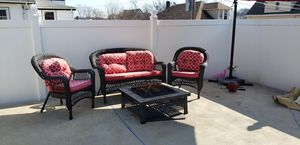 Patio set plus umbrella and firepit for Sale in Revere, MA