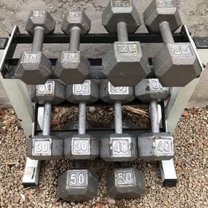 """$450firm!!!Dumbbell weights & Rack... 10 Pound - 50 Pound Set. (""""FIRM"""") for Sale in Glendale, AZ"""