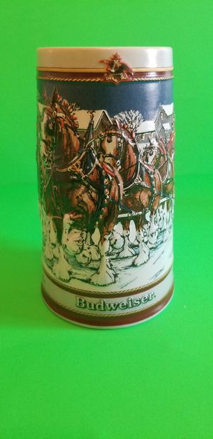 Vintage 1989 Budweiser Holiday Beer Stein Mug Clydesdale Collectors Series for Sale in Milton, PA