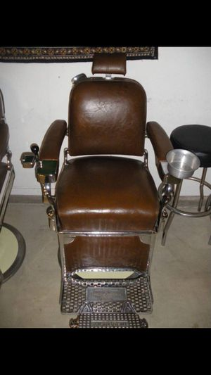 1957 THEO A. KOCHS VINTAGE BARBER CHAIRS - $10K FOR THE PAIR OBO - READ DESCRIPTION FOR SHIPPING INFO for Sale in Brea, CA