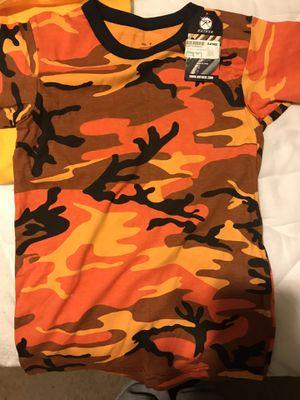 Orange Camo Shirt from Zumiez for Sale in Fairburn, GA