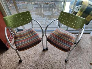 2 rolling chairs - solid built for Sale in Palo Alto, CA