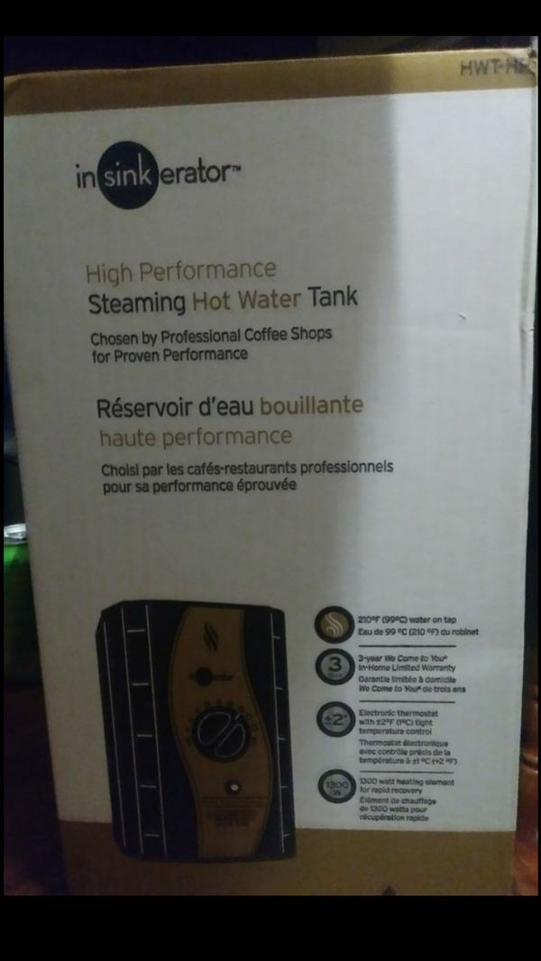 Hot water heater tank for sink
