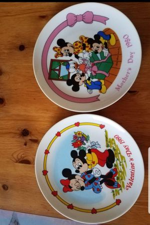 1980 Mickey Mouse Plates for Sale in Moreno Valley, CA