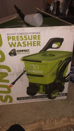 Sunjoe Cordless Car Was pressure Washer for Sale in North Springfield, VA