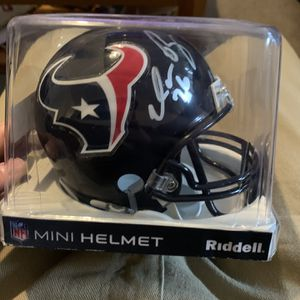 Houston Texans Duane Brown Signed Mini Helmet for Sale in Everett, WA