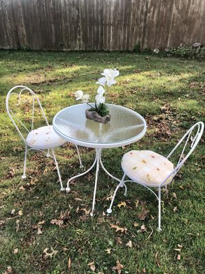 Glass table with chairs for Sale in West Springfield, VA