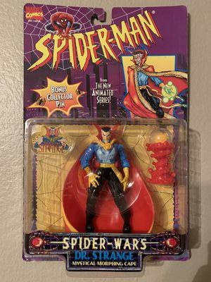 Marvel Spider-Man Animated Series Spider Wars (1995) Dr.Strange Toy Biz Figure NIP for Sale in Stockton, CA