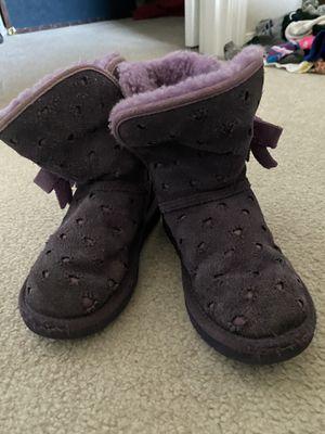 Ugg purple little girls size 12 boots. Like new for Sale in Auburn, WA