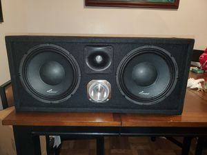 2020watts max CHUCHERO BOX WITH TWO 10INCH AUDIOPIPE AND ONE TWEETER AND ONE HORN DRIVER for Sale in The Bronx, NY