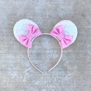Mickey Mouse Handmade Sequin Bowtique Ears in Pink for Sale in Palo Alto, CA