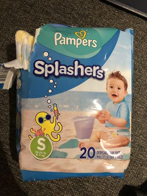 Pampers Splashers disposable swim diapers size small for Sale in San Francisco, CA