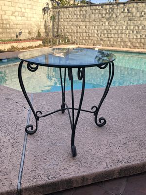 Antique Rod Iron Glass Table for Sale in West Covina, CA