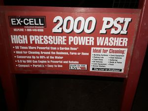 200 PSI PRESSURE WASHER MOTOR RUNS BUT CAN'T GET TO SPRAY NOT SURE WHAT'S GOING ON for Sale in Valley Home, CA
