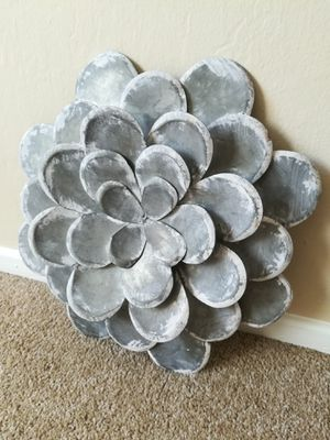 Rustic Galvanized Steel Wall Flower Home Decor for Sale in Sunnyvale, CA