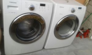 Washer and Electric Dryer Samsung Front Load Great Working Condition Test It Before Buy it for Sale in Walnut, CA