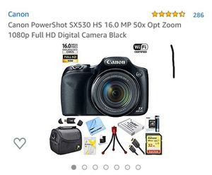 Cannon HD Digital Camera and accessories for Sale in Oak Lawn, IL