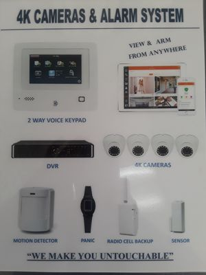 4K Cameras & Touch Sceen 2 Way Voice Keypad for Sale in Rialto, CA