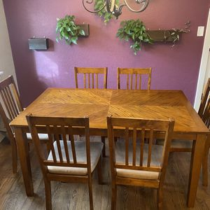 Dining Table Set W/6 Chairs for Sale in Arvada, CO