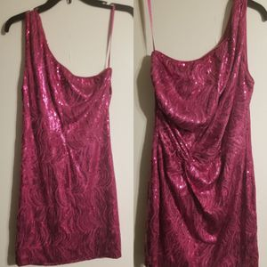 Hot Pink One Strap Dress Size L (by AS U Wish) for Sale in Moss Point, MS