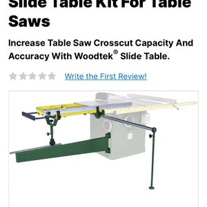 """Sliding Table for 10""""/12"""" Right Tilt Table Saw for Sale in Graham, WA"""