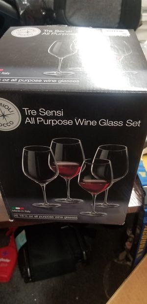 Bormioli Rocco all purpose wine glass set of 4 for Sale in Compton, CA