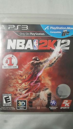 NBA 2K12 FOR PS3 for Sale in Miami Gardens, FL