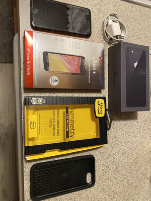 iPhone 8 - 64gb - unlocked- accessories in picture for Sale in Dublin, OH