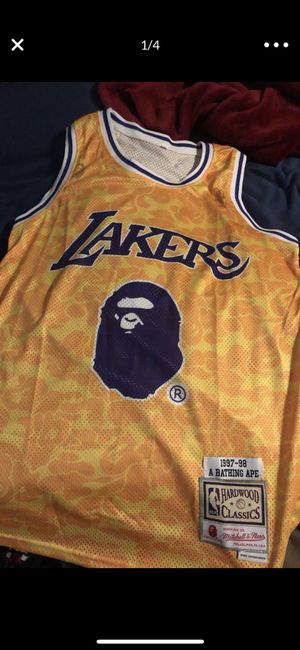 Bape lakers jersey for Sale in Normal, IL