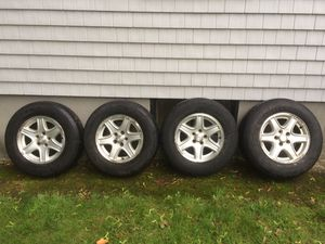 """16"""" Aluminum Wheels off a Jeep Wrangler for Sale in Wakefield, MA"""