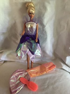 90's Barbie in Fairy Dress with Alternative Mermaid Outfit & Brush for Sale in Alta Loma, CA
