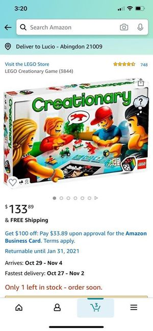 LEGO CREATIONARY for Sale in Riverview, FL