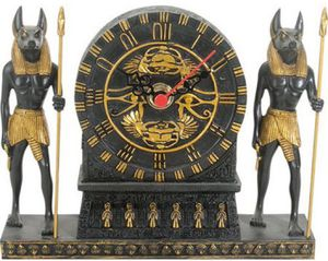 Ancient Egyptian Anubis Eye of Horus Table Clock Statue Collection With Roman Numerals for Sale in Frisco, TX