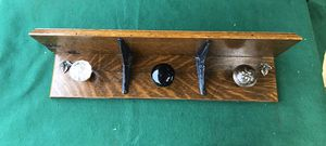 Coat rack with antique door knobs for Sale in Tacoma, WA