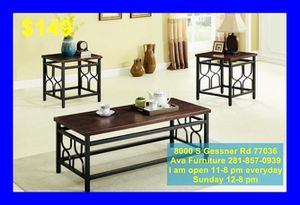 3 piece coffee table set for Sale in Houston, TX
