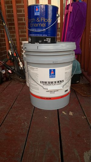 5gal ceiling paint and porch paint for Sale in Olivette, MO