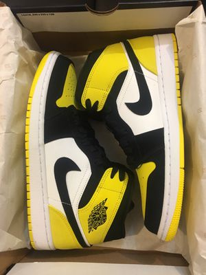 New air Jordan 1 yellow toe shoe men size 8 and 9.5 for Sale in West Covina, CA