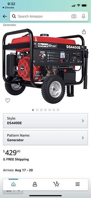 Durostar DS4400E generator for Sale in San Antonio, TX