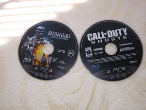 Ps3 games. Call of duty ghost and battlefield 3 for Sale in Alexandria, VA