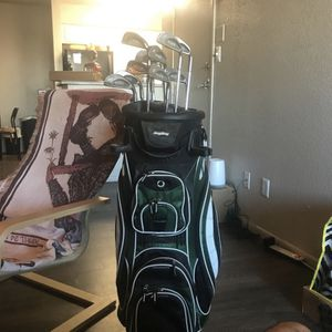 BagBoy Cooler Golf Bag And Vintage Ping Clubs for Sale in Tempe, AZ