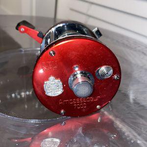 Abu Garcia ambassadeur 7000 Red HIGH SPEED Bait Casting Reel for Sale in San Antonio, TX