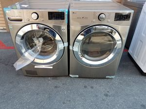LG silver metalic washer gas dryer for Sale in Tustin, CA