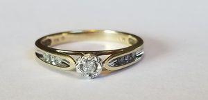 Stunning Vintage 10K yellow gold genuine diamond ring size 7 for Sale in Lake Stevens, WA
