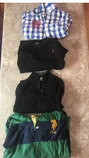 alot of 4 sweaters little boys black green blue tommy /us polo/ calvin klein 7 8 for Sale in Malden, MA