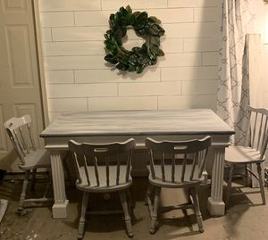 Farmhouse table and 4 chairs for Sale in Lexington, KY