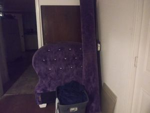 Purple furry twin size bed frame for Sale in Poplar Bluff, MO